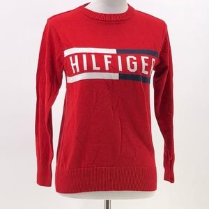 Tommy Hilfiger boys spellout sweater across chest